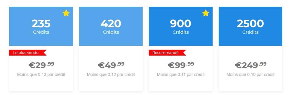 tarif credits planscul.com