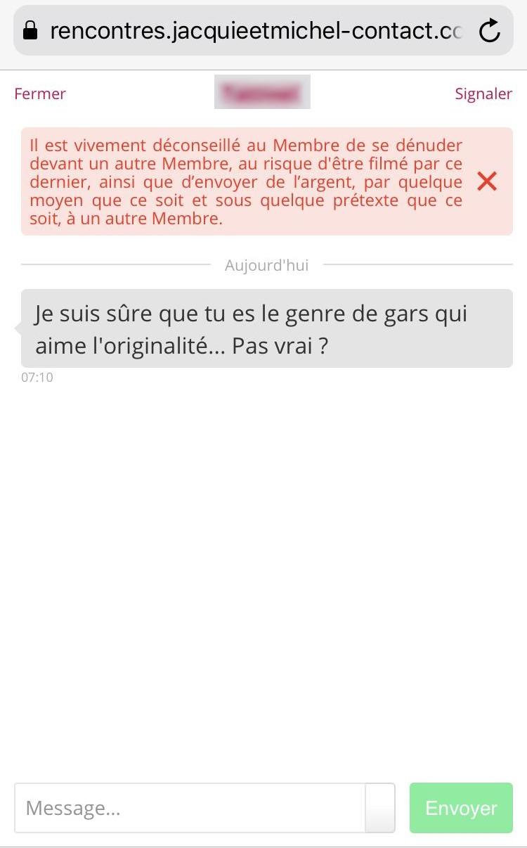 Tchat mobile de Jacquie et Michel